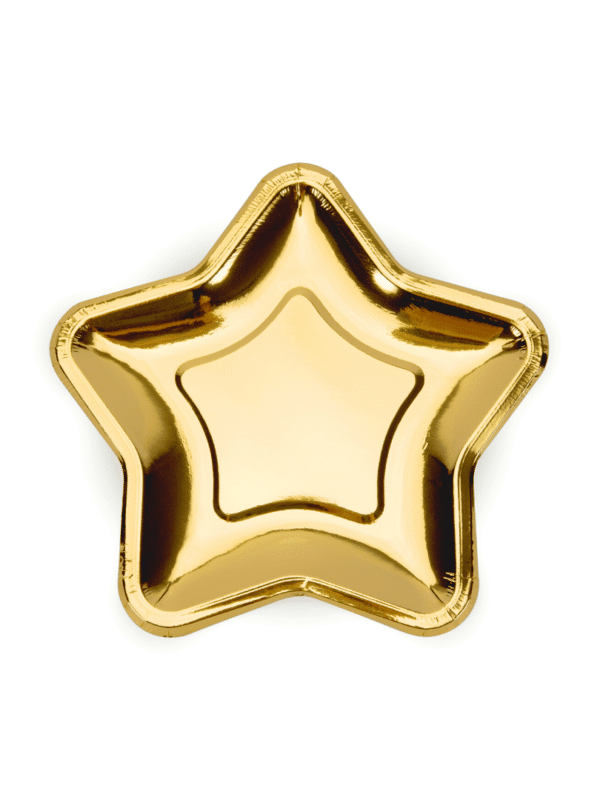 assiettes étoiles dorées