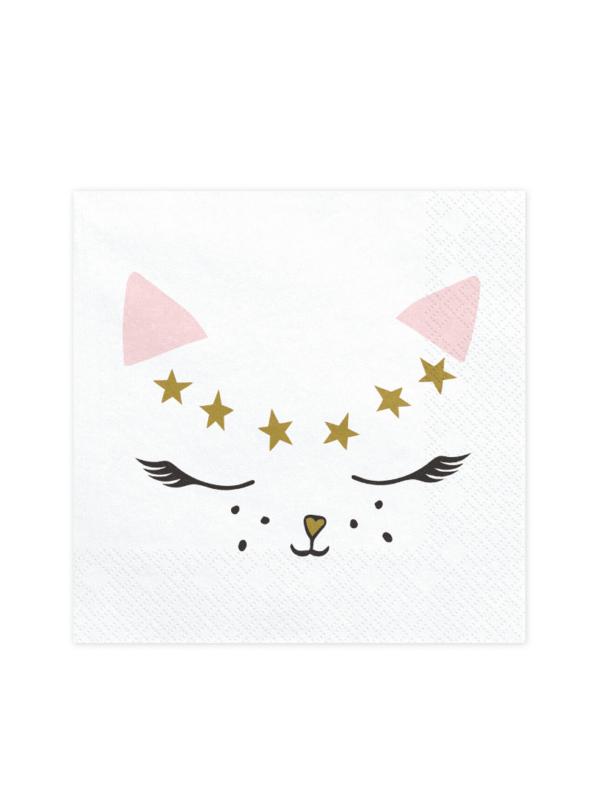 serviettes chat