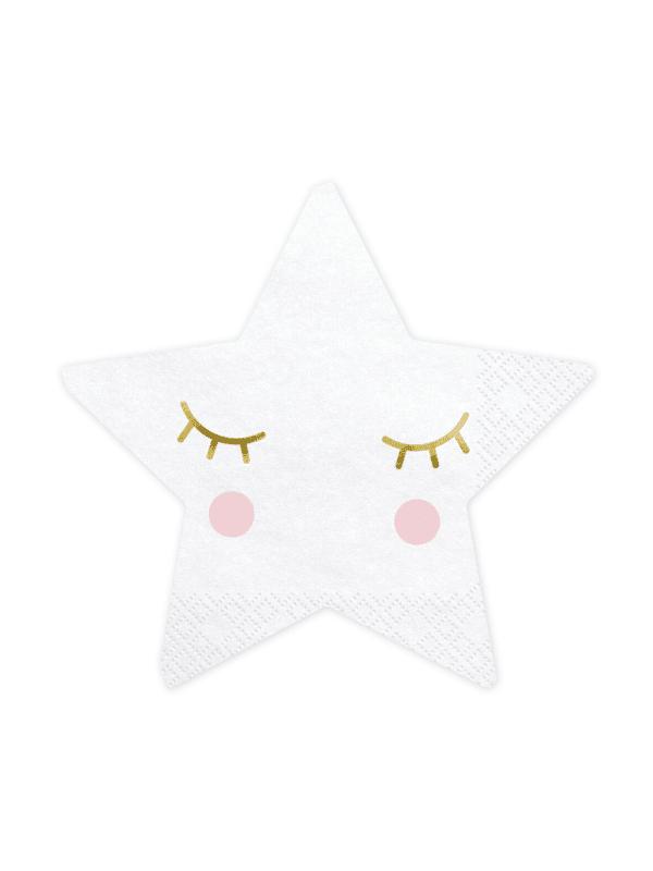 serviettes petites étoiles