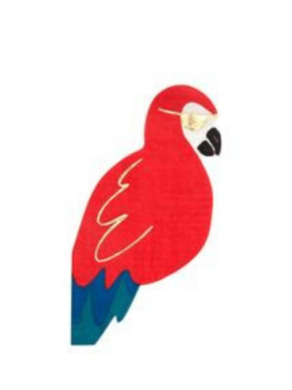 serviettes perroquet skull