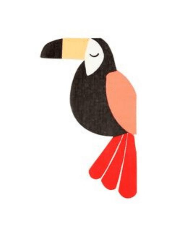 serviette toucan animaux crealoca