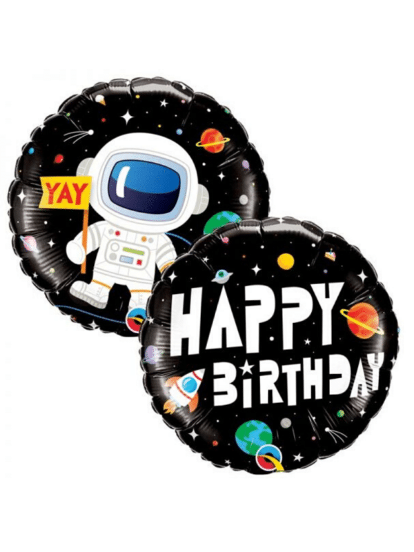 "Ballon astronaute ""Happy Birthday"""