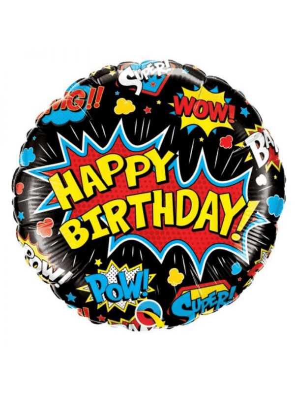 "ballon super héros ""happy birthday"""