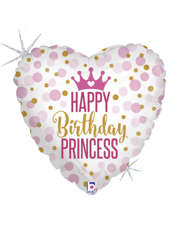 "BALLON coeur princesse ""happy birthday"""