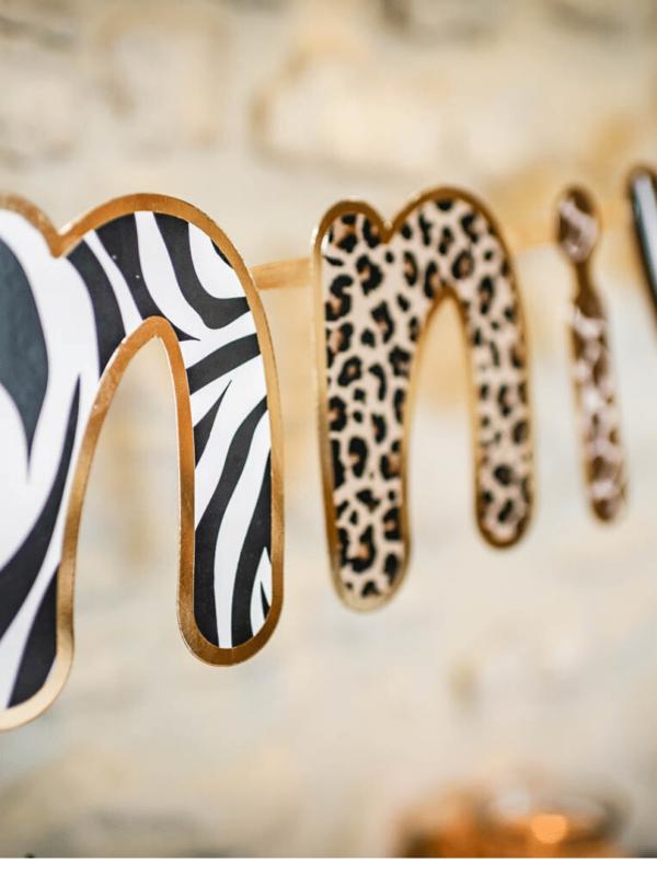 guirlande safari léopard décoration de fête à suspendre
