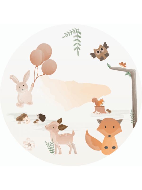 décoration de fête nature nude enfants mimi animaux renard écureuil