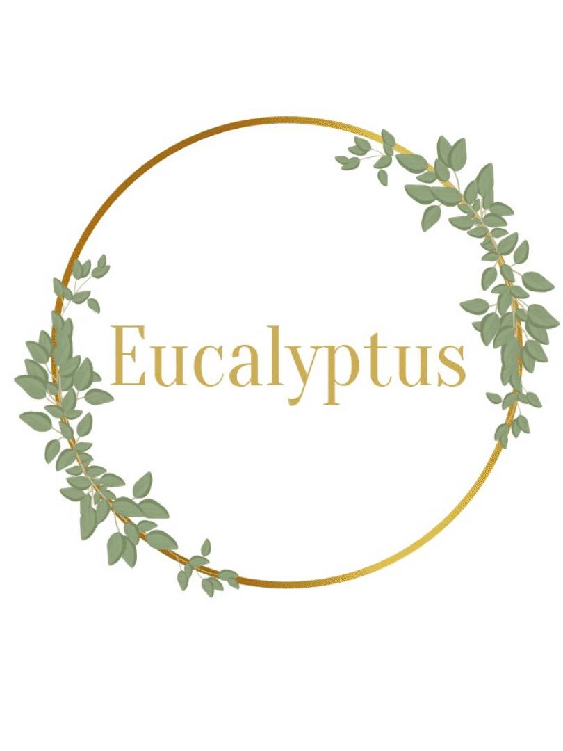 décorations de fête baptême eucalyptus bébé d'amour personnalisables blanc vert et doré