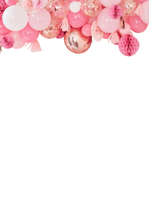 GUIRLANDE de BALLONs ROSE et rose gold crealoca