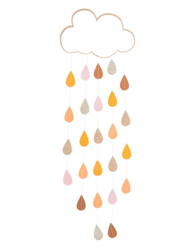 suspension décoration nuage arc-en-ciel paillettes