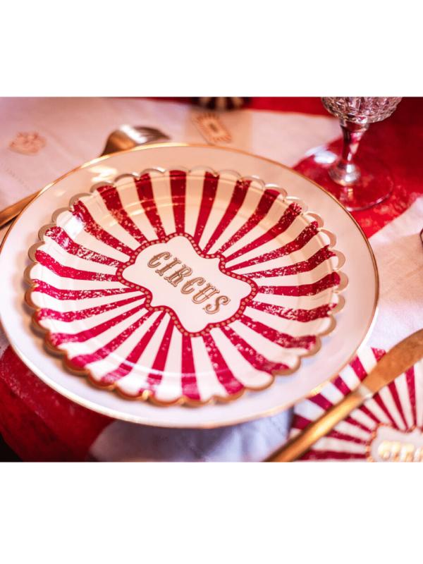 assiette circus vintage anniversaire