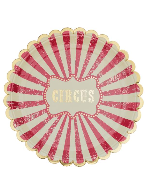 assiettes cirque vintage