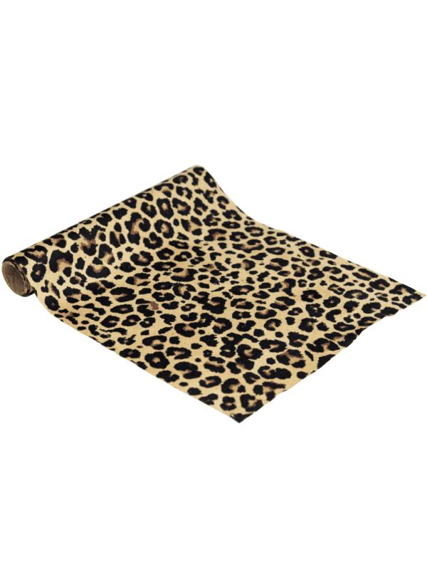 chemin de table léopard suédine safari déco de fête tendance original