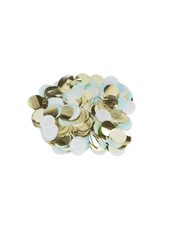 confettis ciel blanc et or baptême