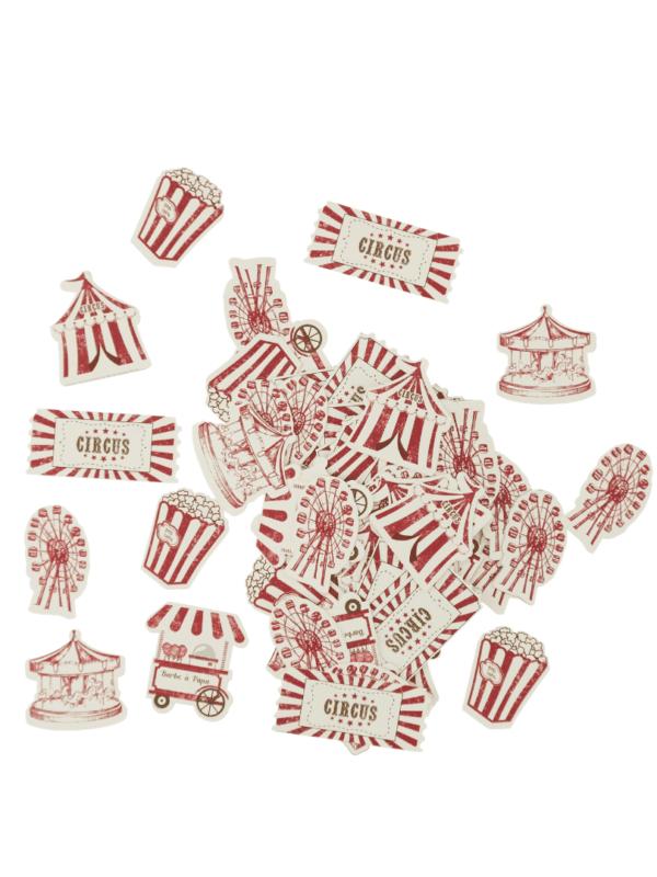 confettis cirque vintage décoration anniversaire