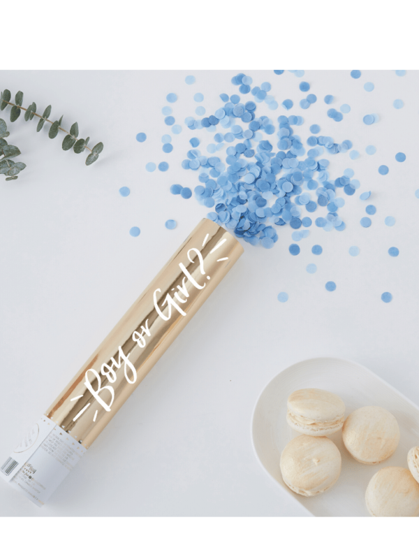 confetti gender reveal bleu crealoca