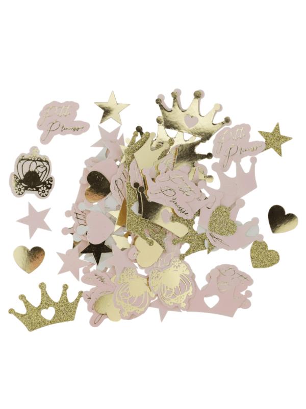 confettis princesse rose et or paillettes