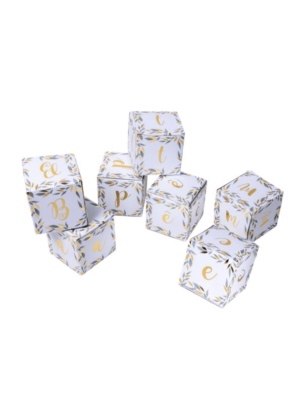 cubes déco baptême végétal