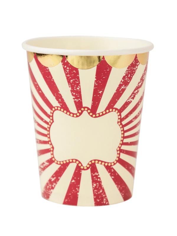 gobelets cirque vintage décoration de fête anniversaire