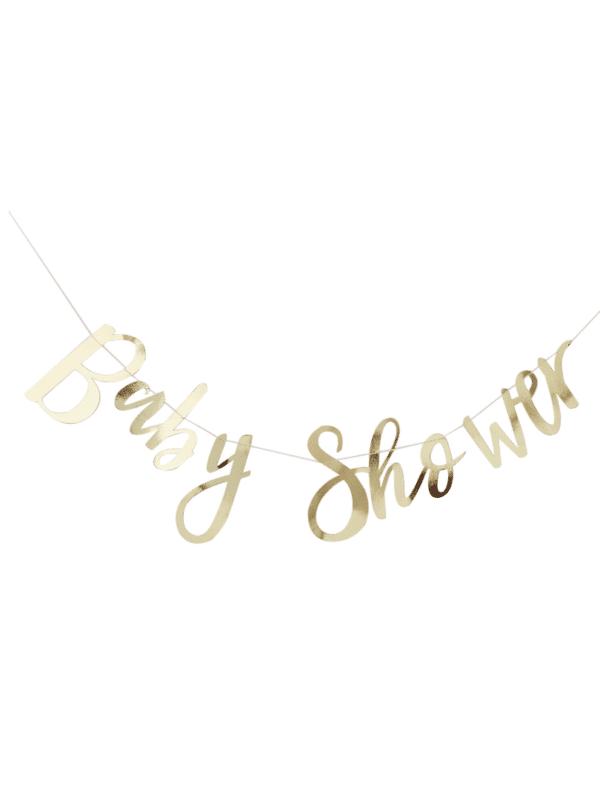 guirlande baby shower dorée