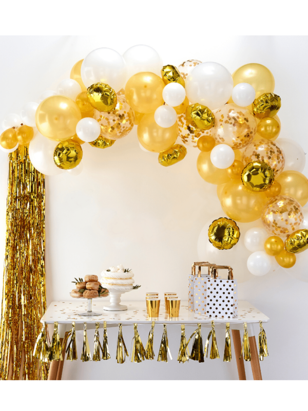 guirlande de ballons gold doré