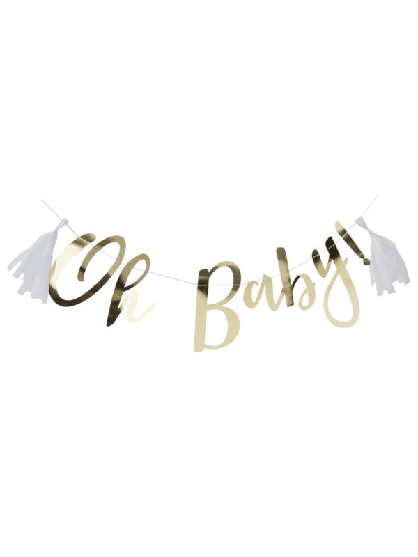guirlande oh baby dorée baby shower