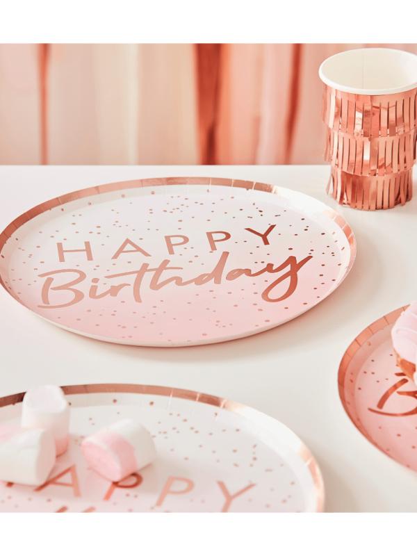 happy birthday rose gold crealoca anniversaire
