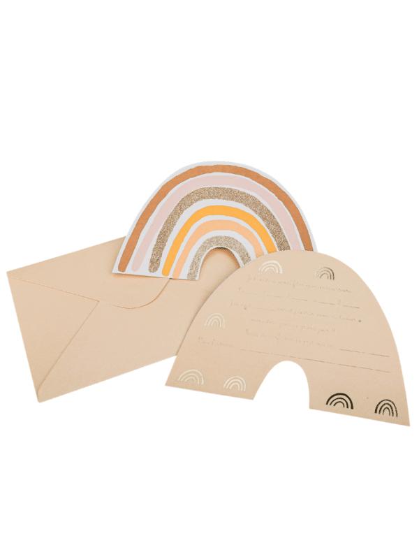 cartes invitations rainbow arc-en-ciel