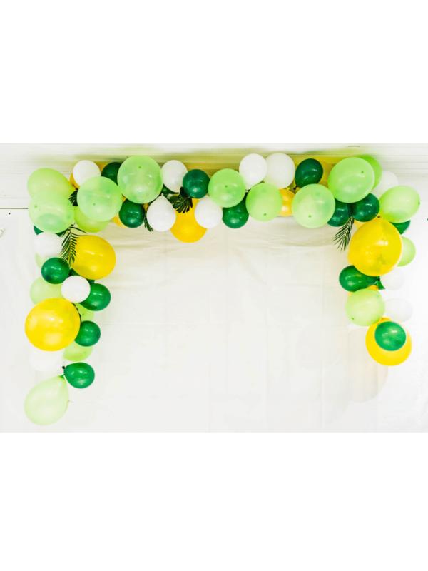 arche de ballons tropical anniversaire