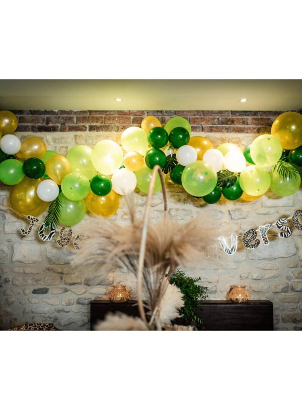 kit arche de ballons tropical décoration baptême
