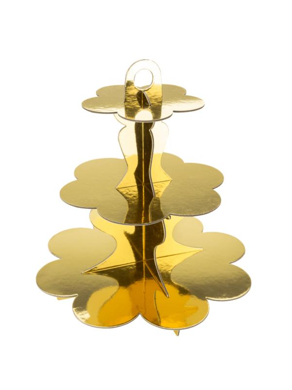 présentoir or métallisé décoration de table