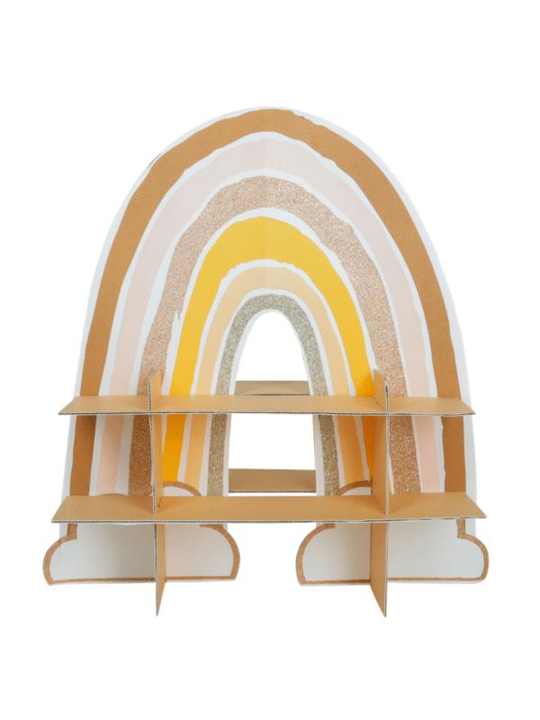 présentoir rainbow décoration table de fête pour gâteaux
