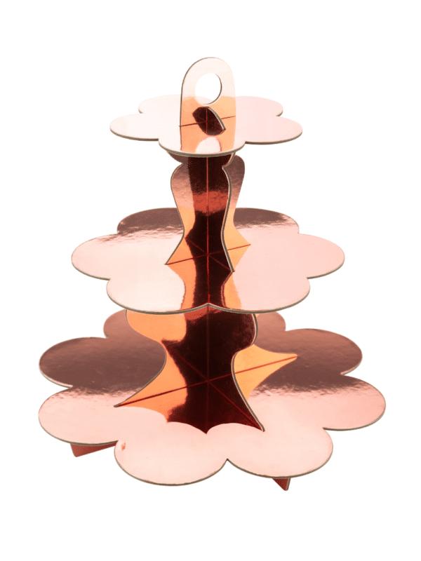 présentoir rose gold métallisé