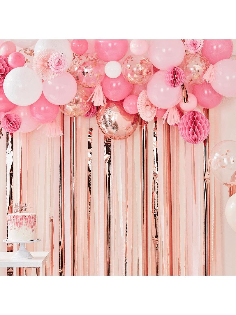guirlande de ballons rose crealoca
