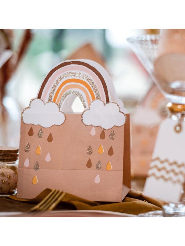 sacs cadeaux rainbow arc-en-ciel paillettes