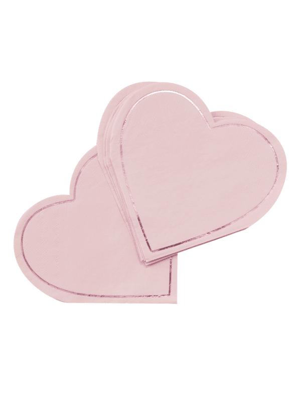 serviettes cœur rose tendance baby shower