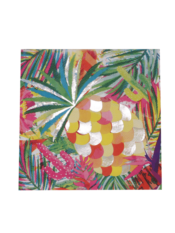 serviette summer tropical