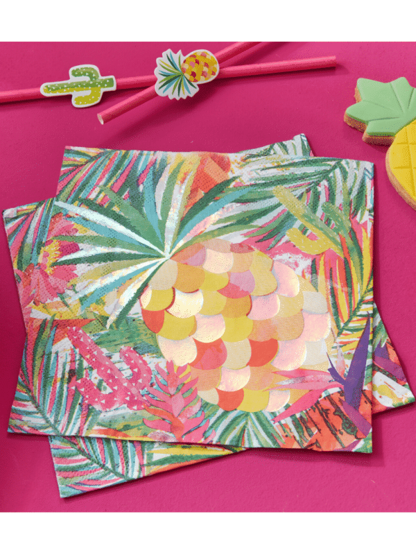 serviettes summer tropical