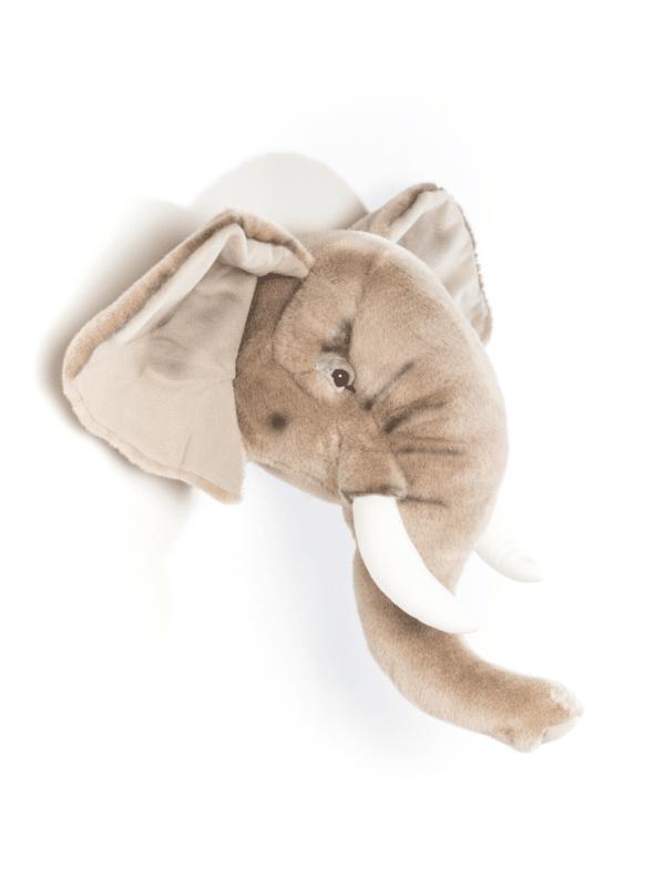 trophée tête d'éléphant décoration murale chambre enfant tendance