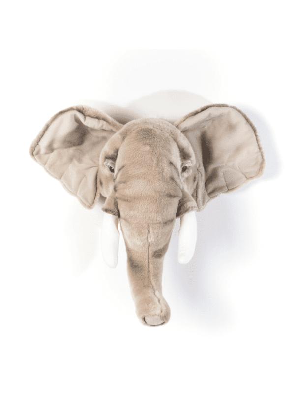 trophée tête d'éléphant décoration murale chambre enfant originale