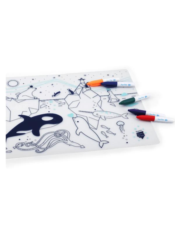 kit silicone banquise cadeau enfant coloriage tendance