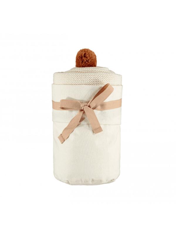 cape en tricot nobodinoz coton bio cadeau naissance