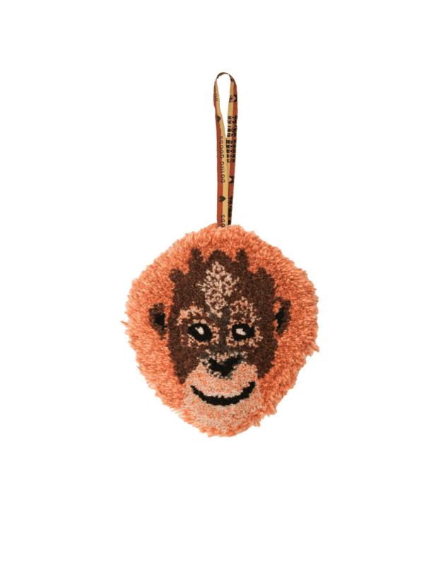tête d'orang-outan à suspendre en laine et coton doing goods idée cadeau enfant