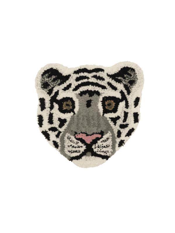 tapis tête de tigre blanc déco murale enfant