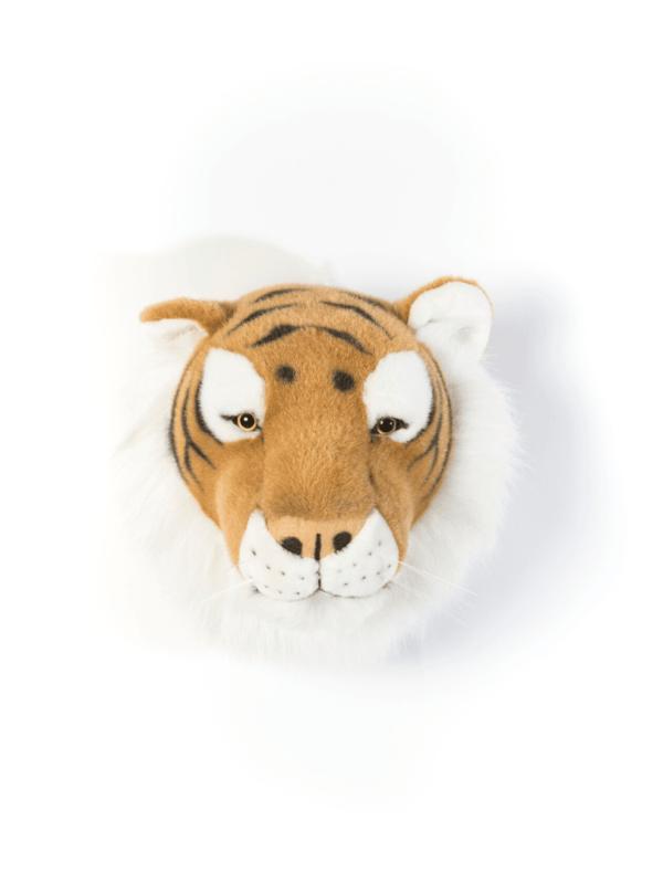 trophée tête de tigre décoration chambre enfant originale