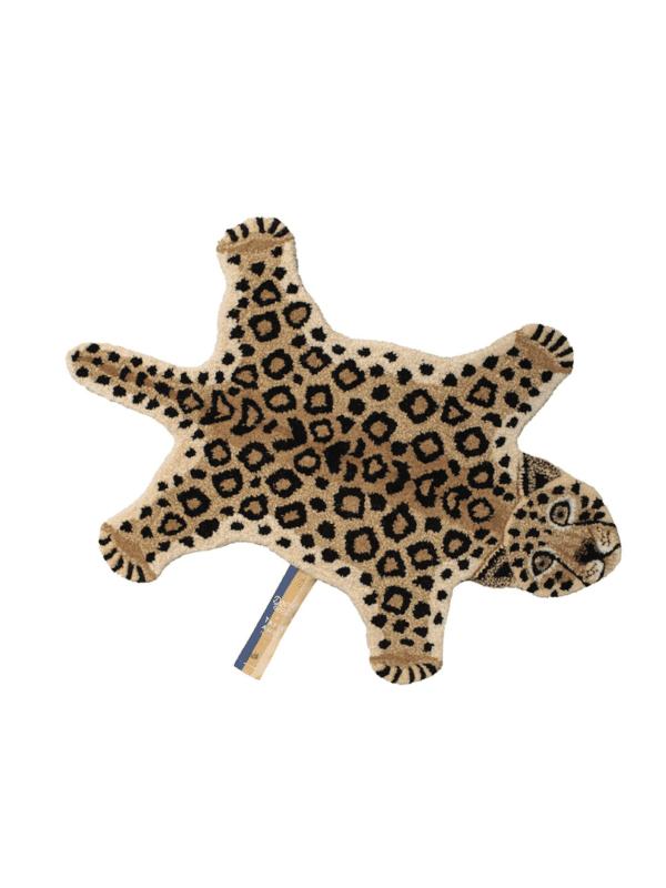 tapis léopard laine décoration enfant fait main unique