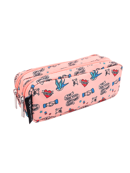 trousse double cool tatoos caramel & cie fille