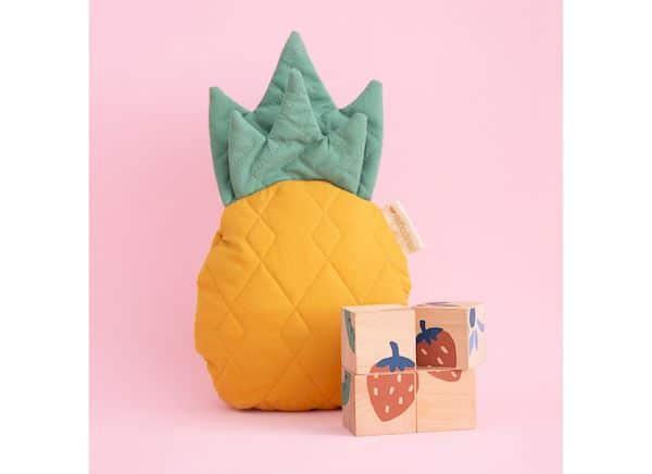 cube en bois ananas nobodinoz eveil bebe