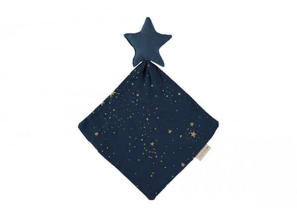 doudou star gold stella night bleu nobodinoz bebe coton bio