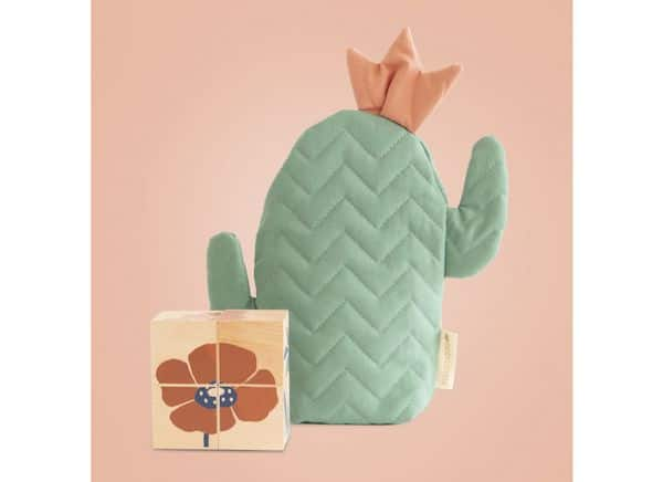 Cube en bois cactus eveil nobodinoz