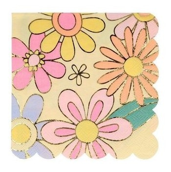 serviette flower power MERI MERI FETE 60